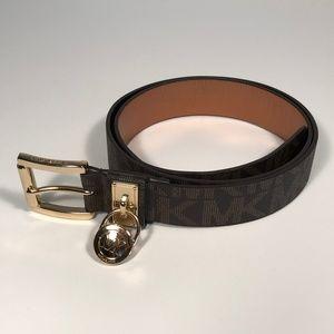 Michael Kors Hamilton Logo Hardware Women's Belt L